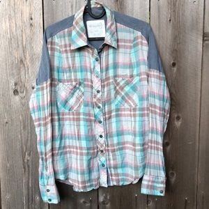 Free People We The Free Plaid Shirt